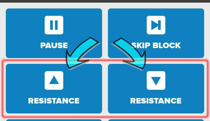 Zwift Workout Resistance Buttons