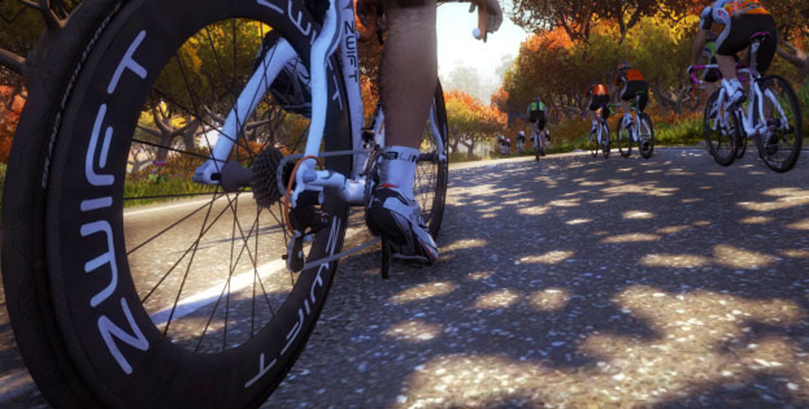 On the virtual road with Zwift