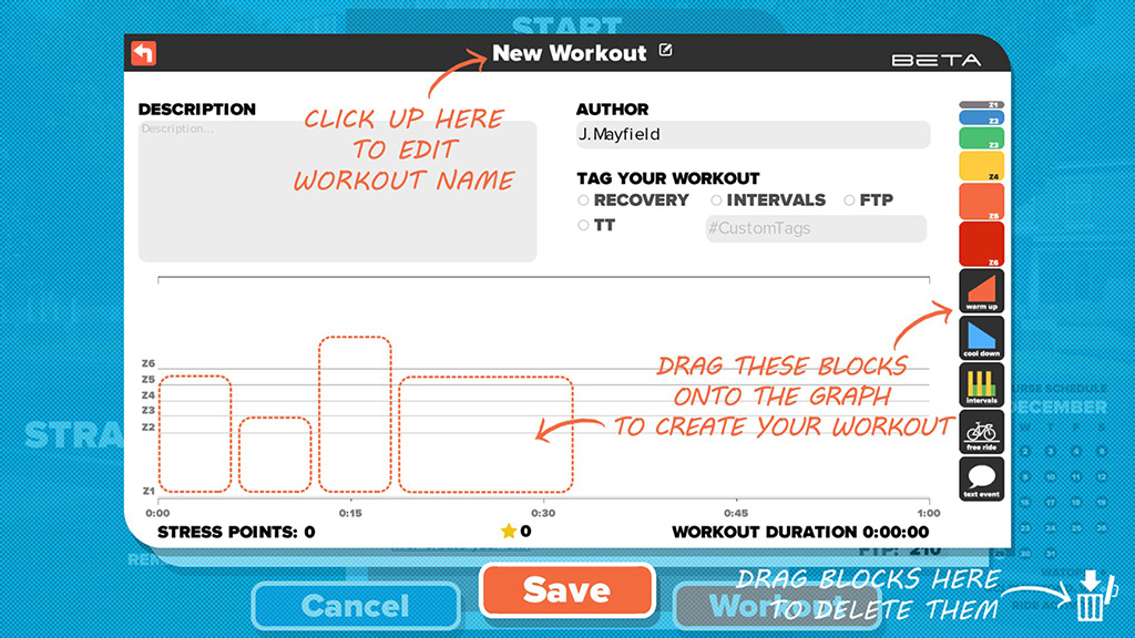 Zwift Workout Builder